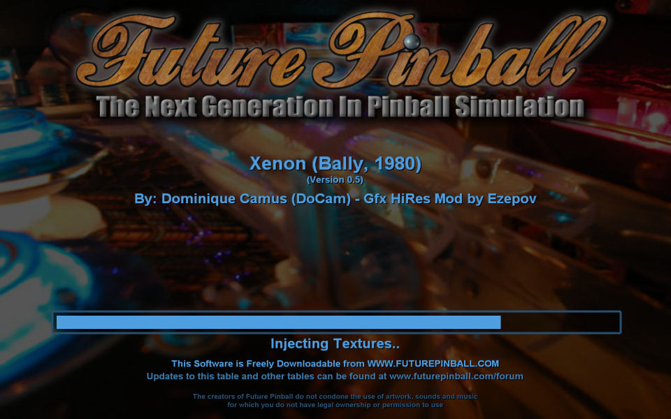 Welcome to Xenon    for Future Pinball