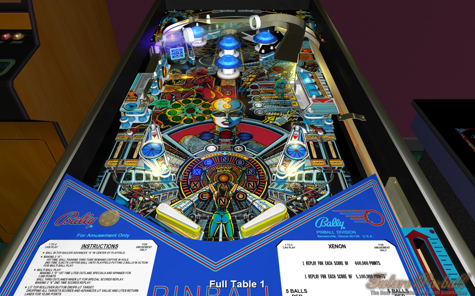 Welcome to Xenon    for Future Pinball